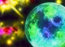 Предпосылка обоев стиля влияния планеты Стоковое Изображение