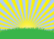 Предпосылка обоев стиля влияния Солнця лета Стоковая Фотография