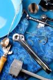 Предпосылка оборудования еды кухни Стоковая Фотография RF