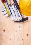 предпосылка оборудует деревянное Стоковые Фотографии RF