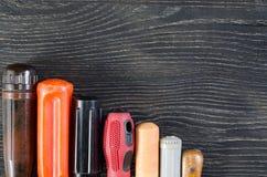 предпосылка оборудует деревянное Стоковые Фото
