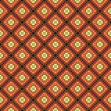 предпосылка объезжает померанцовый вектор квадратов орнамента Стоковые Фотографии RF