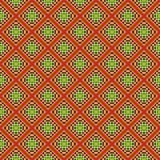 предпосылка объезжает померанцовый вектор квадратов орнамента Стоковое Фото