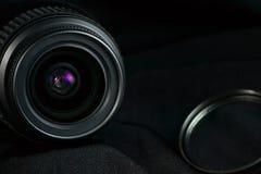 Предпосылка объектива фотоаппарата Стоковая Фотография