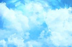 Предпосылка облака Стоковые Изображения