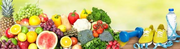 Предпосылка овощей и плодоовощей стоковые фотографии rf
