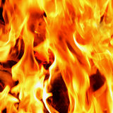 Предпосылка огня и пламен Стоковое Фото