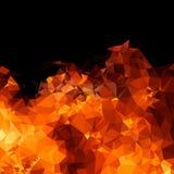 Предпосылка огня полигона геометрическая Стоковая Фотография RF