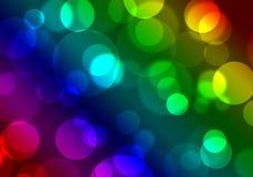 Предпосылка ожога Bokeh абстрактного изображения красочная яркая Стоковая Фотография
