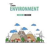 Предпосылка окружающей среды городка Стоковое фото RF