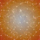 Предпосылка - оранжевая мозаика Стоковая Фотография RF