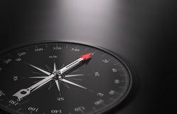 Предпосылка ориентации дела, компас на левой стороне Стоковые Фото