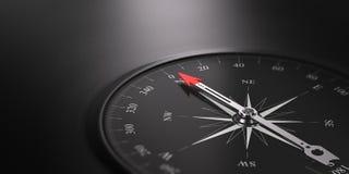 Предпосылка ориентации дела, компас на праве Стоковая Фотография RF