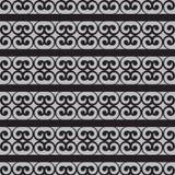 Предпосылка орнамента вектора безшовная черная Стоковая Фотография RF