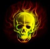 Предпосылка орнамента фрактали черепа с картиной coloor airbrush Стоковые Фотографии RF