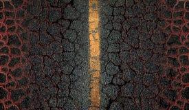 Предпосылка дороги асфальта Стоковая Фотография RF