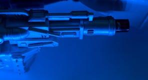 Предпосылка оружия робота футуристическая Стоковое Изображение
