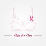 Предпосылка осведомленности рака молочной железы Элементы и inspirat вектора Стоковое Изображение RF