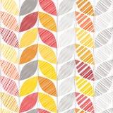 Предпосылка осени безшовная с абстрактными листьями иллюстрация штока