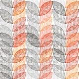 Предпосылка осени безшовная с абстрактными листьями иллюстрация вектора