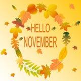 Предпосылка осени первом -го в ноябре здравствуйте! Стоковые Фото