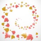 Предпосылка осени с листьями Стоковая Фотография