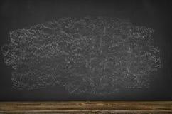 Предпосылка доски пустая Черная рамка классн классного с космосом экземпляра Стоковое фото RF