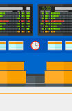 Предпосылка доски план-графика в авиапорте Стоковое Фото