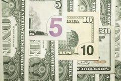 Предпосылка от банкнот долларов США Стоковое Фото