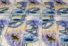 Предпосылка от банкнот 100 рублей Стоковое фото RF