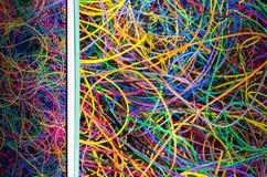 Предпосылка от выжимк с сокрушенной электронной формой провода старой Стоковая Фотография