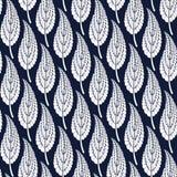 Предпосылка от декоративных голубых листьев Стоковые Изображения RF