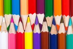 Предпосылка от красочного карандаша Стоковые Изображения