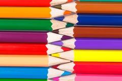 Предпосылка от красочного карандаша Стоковая Фотография