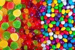 Предпосылка от красочных помадок конфет сахара стоковое изображение rf