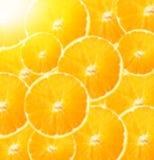 Предпосылка от кусков апельсина Яркая запачканная предпосылка Стоковое Изображение