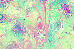 Предпосылка от пестротканых хаотических спиралей Стоковые Изображения RF