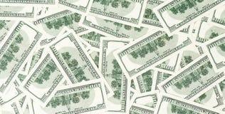 Предпосылка от разбросанных банкнот доллара как абстрактный безшовный Стоковое Фото