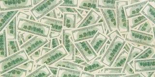 Предпосылка от разбросанных банкнот доллара как абстрактный безшовный Стоковая Фотография RF