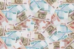 Предпосылка от разнообразие русских банкнот Стоковые Фото