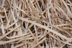 Предпосылка от сухих деревянных shavings Стоковое Изображение RF