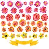 Предпосылка от цветков акварели Стоковые Фотографии RF