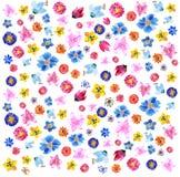 Предпосылка от цветков акварели Стоковое фото RF