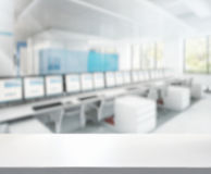 Предпосылка офиса столешницы и нерезкости Стоковые Изображения RF