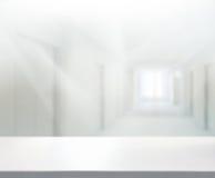 Предпосылка офиса столешницы и нерезкости Стоковое Изображение RF