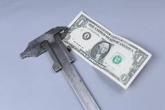 Предпосылка доллара США и крумциркуль Стоковая Фотография