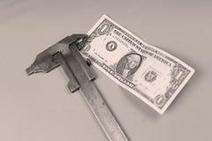 Предпосылка доллара США и крумциркуль Стоковое Изображение RF