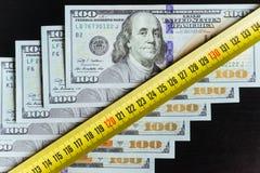 Предпосылка 100 долларовых банкнот Стоковое Изображение RF