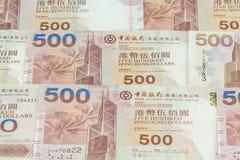 Предпосылка долларов Гонконга Стоковая Фотография RF