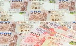 Предпосылка долларов Гонконга Стоковые Изображения RF
